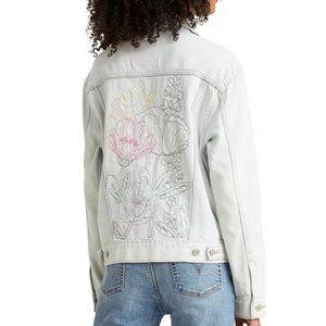 Levi's Floral Embroidered Ex-Boyfriend Jean Jacket